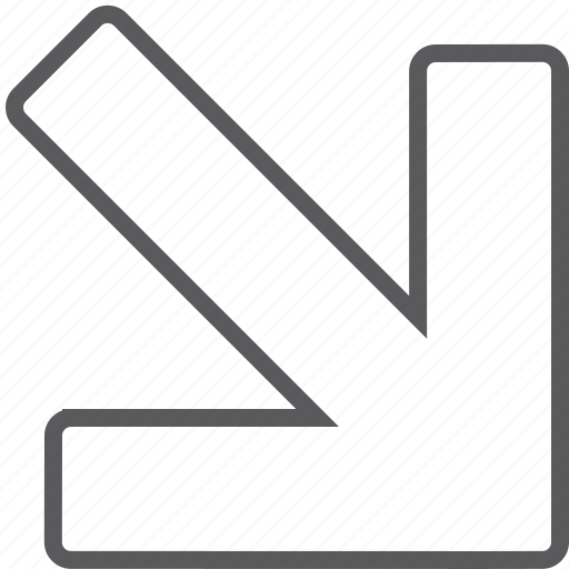 Arrow, diagonal, down, right icon - Download on Iconfinder