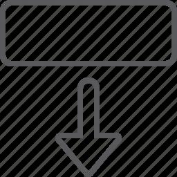 arrow, down, move icon