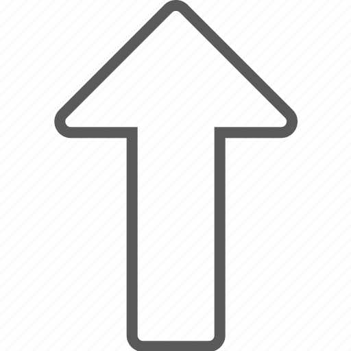 arrow, up icon