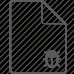 bug, file icon