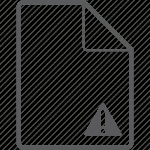 caution, file icon