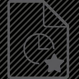 clock, file, star icon