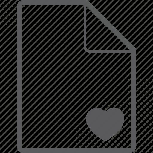 file, heart icon