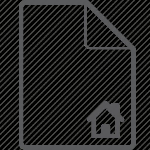 file, house icon