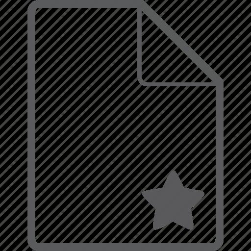 file, star icon