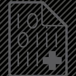 add, binary, file icon