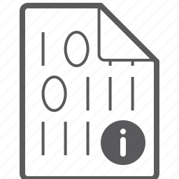 binary, file, info icon