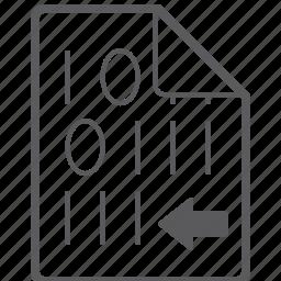 binary, file, left icon