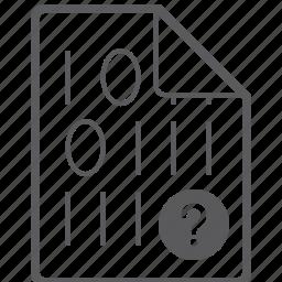 binary, file, question icon