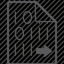 binary, file, right icon