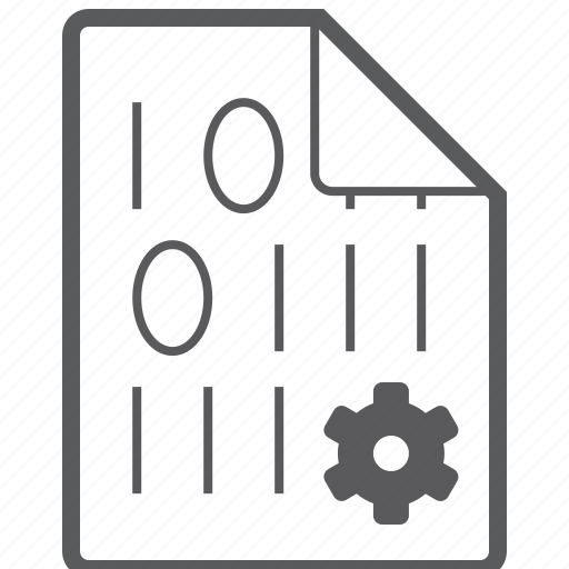 binary, file, setting icon
