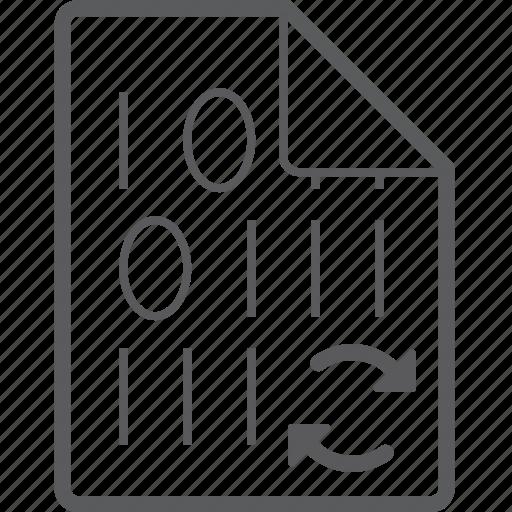 binary, file, sync icon