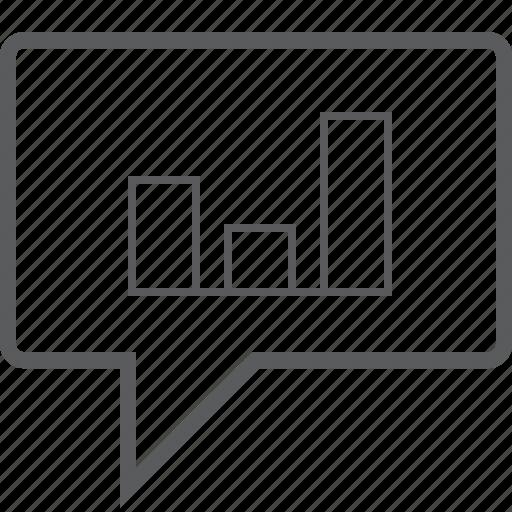 box, bubble, chart, chat, column icon