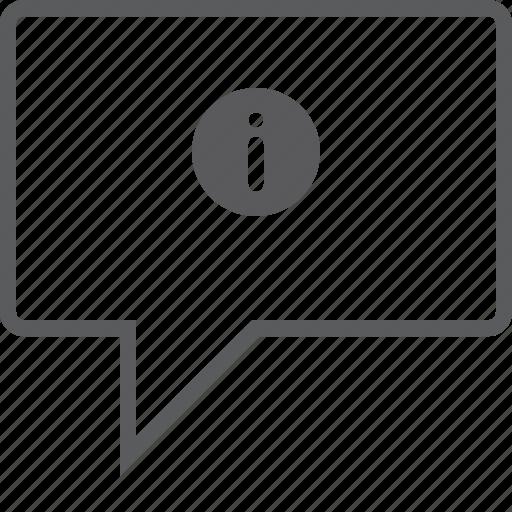 box, chat, info icon