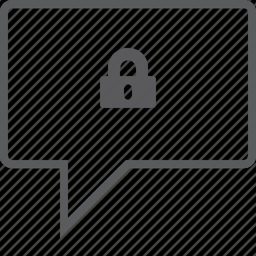 box, chat, lock icon