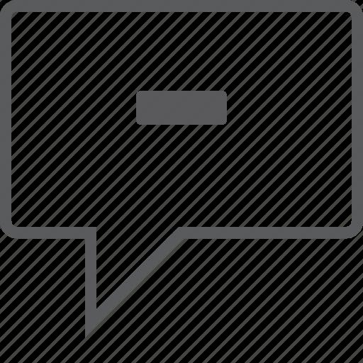 box, chat, remove icon