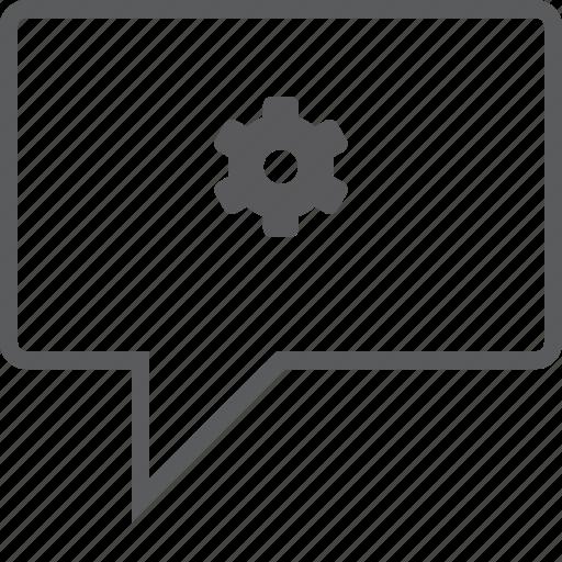 box, chat, setting icon