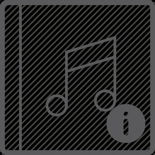 cover, info, music icon