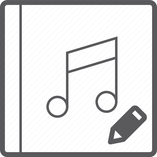 cover, music, pencil icon