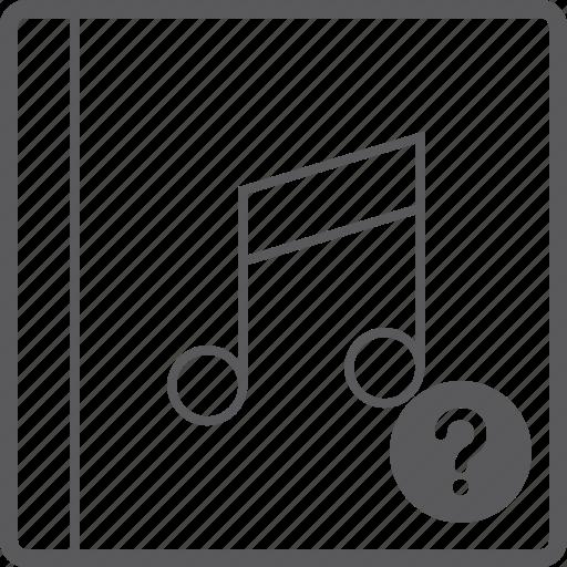 cover, music, quesion icon