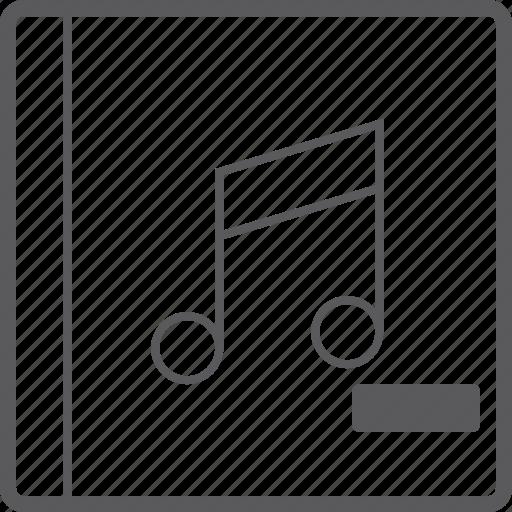 cover, music, remove icon