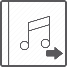 cover, music, right icon