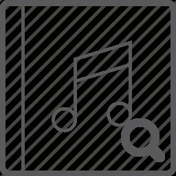 cover, music, search icon