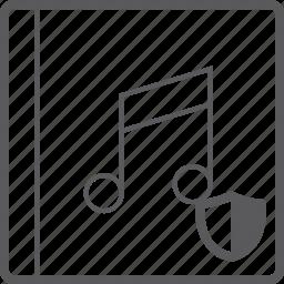 cover, music, shield icon
