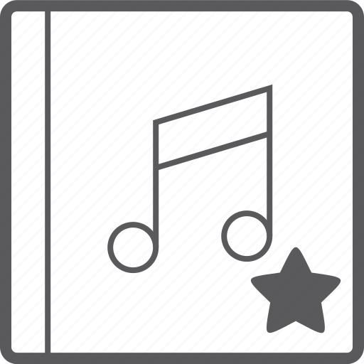 cover, music, star icon
