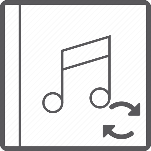 cover, music, sync icon