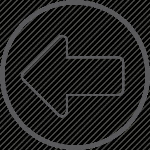 arrow, cicrle, left icon