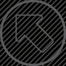 arrow, cicrle, left, up icon