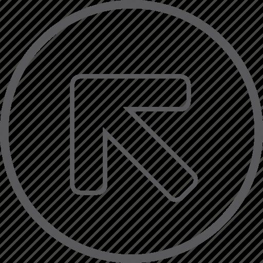 arrow, circle, left, up icon