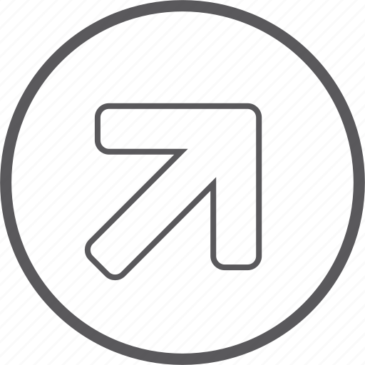 Arrow, circle, right, up icon - Download on Iconfinder