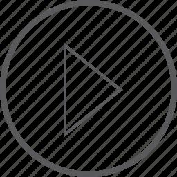 button, circle, right icon