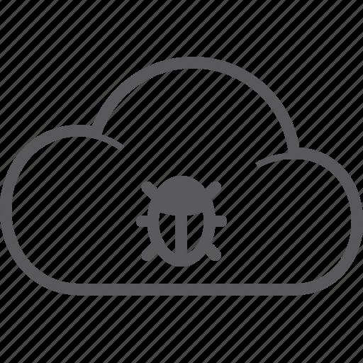 bug, cloud icon