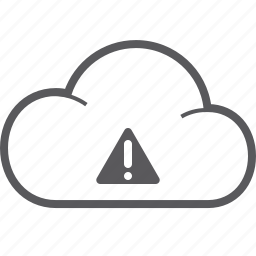 caution, cloud icon