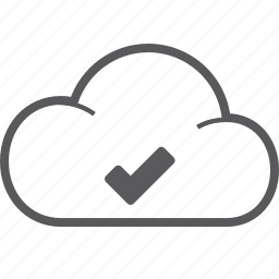 check, cloud icon
