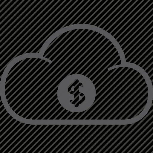 cloud, dollar icon