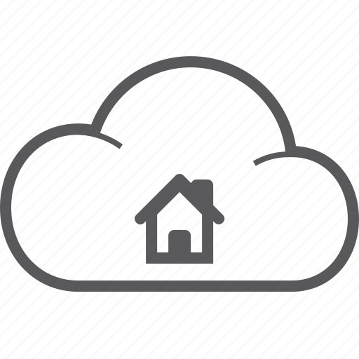 cloud, house icon
