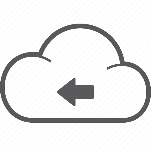 cloud, left icon
