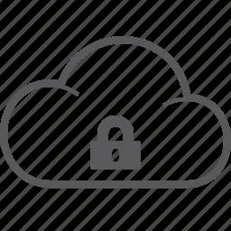 cloud, lock icon