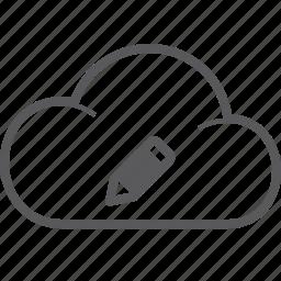 cloud, pencil icon