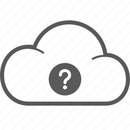 cloud, question icon