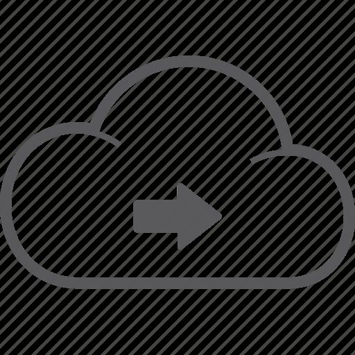 cloud, right icon