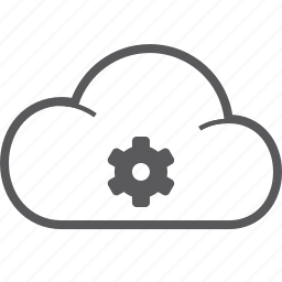 cloud, setting icon
