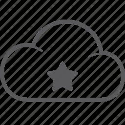 cloud, star icon