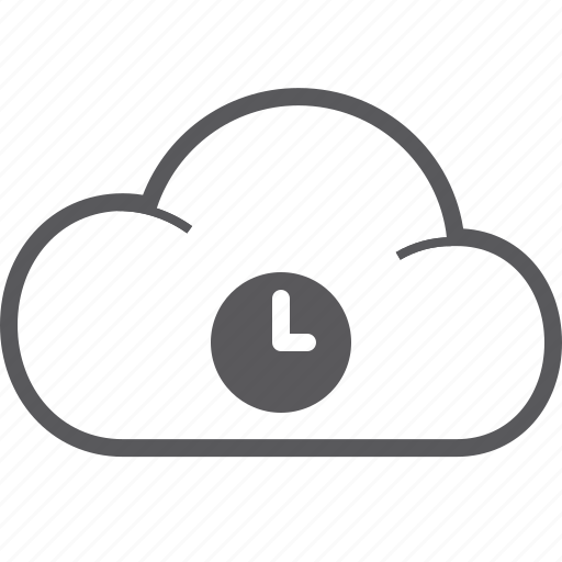 cloud, timer icon