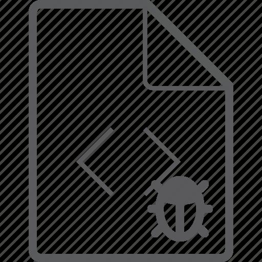 bug, code, file icon