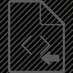 code, file, left icon